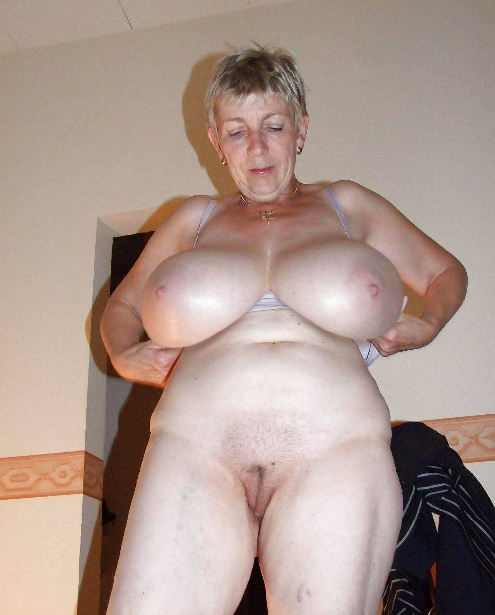 Big granny boobs in the world