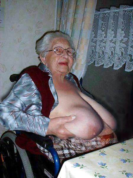 Omapass very old chubby granma has sex with household goods 2