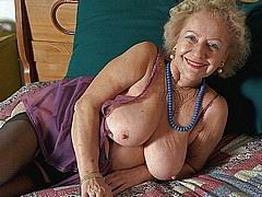 very old amateur grannies posing and in action from Old Nanny