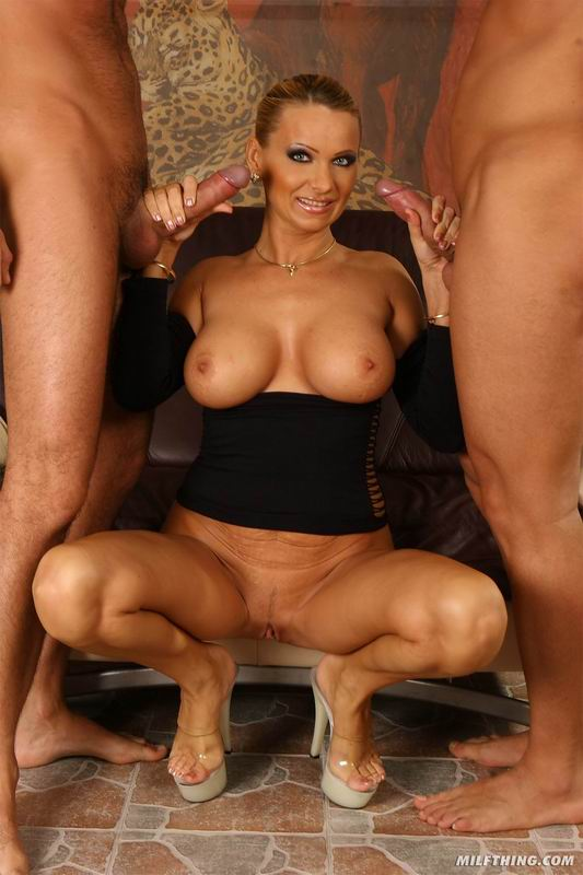 Milf thing milf vinnie wants two guys to tear her up 2